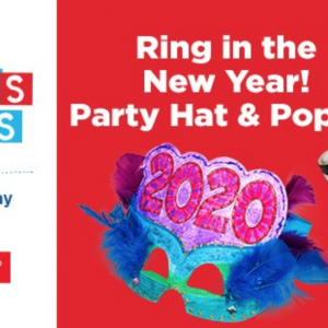 Ring in the New Year! Party Hat & Popper at Lakeshore Learning Stores