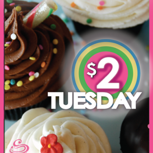 $2 Tuesday at SAS Cupcakes