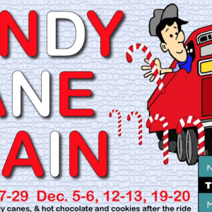 11/21-12/20 Candy Cane Train at the N.C. Transportation Museum