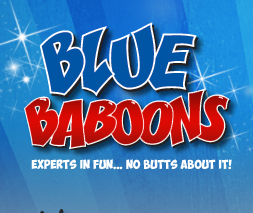 Blue Baboons Carnival Fun