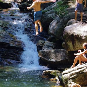 Skinny Dip Falls and Swimming Hole