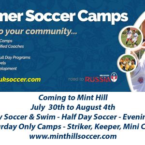 07/30-08/04 Mint Hill UK International Soccer Summer Camp 2018