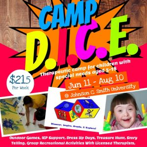 06/11-08/10 Camp D.I.C.E. - Therapeutic Camp for Special Needs Children. Summer Camp 2018