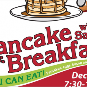 12/01 Pancakes with Santa at Troutman Elementary